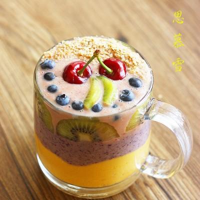 彩虹思慕雪---炎夏鲜果轻食DIY