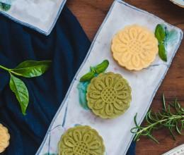 清香可口的抹茶绿豆糕
