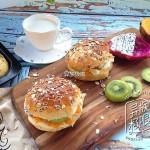 黑燕麦水果汉堡--高纤低脂,饱腹纤体