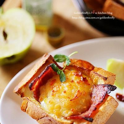 法式早餐热三明治马芬