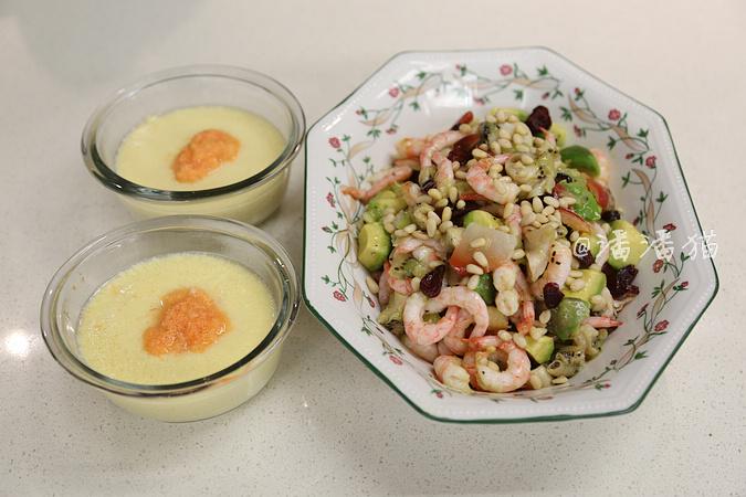 十分钟即可完成两道的北极虾料理