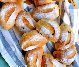 秋季养生之红糖麦麸蓝莓果干面包!