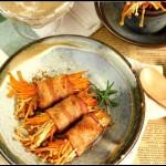 节后无油美味菜--颜值高味道好之培根金针菇卷
