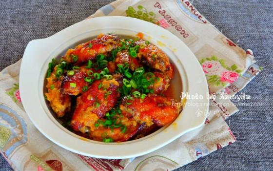 雨后天晴之后的暖身菜--香浓金沙鸡翅
