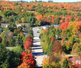 加拿大快乐的感恩节---出游G8峰会小镇HuntsvilleLionLookout