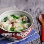 【鸡汤鲜虾馄饨】:鲜香滑嫩