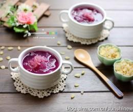 一直美下去--皂角米紫薯银耳羹