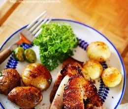 烤蒜香五花肉