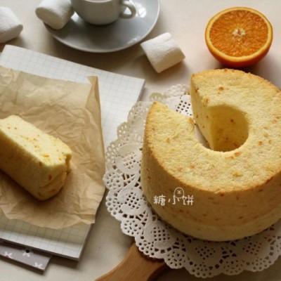 【橙汁戚风】鲜榨橙汁+橙皮入