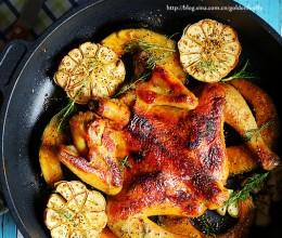 脆皮香料烤鸡