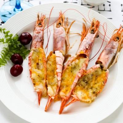 感恩節媲美五星酒店的大餐--芝士焗大蝦