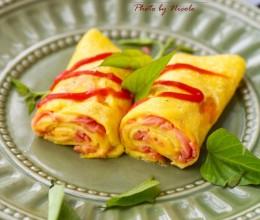 用阳光早餐唤醒明媚清晨:火腿芝士鸡蛋卷