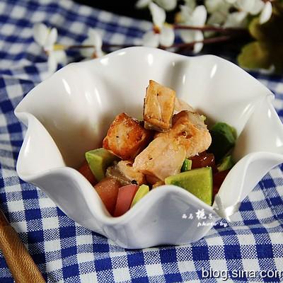 轻食小菜--三文鱼牛油果沙拉