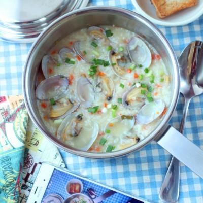 用鲜滑可口的胡萝卜鲜蛤粥开启一天的味蕾