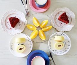 【早餐°】2016-12-12:红丝绒蛋糕/瑞士卷/禇橙/卡布奇诺