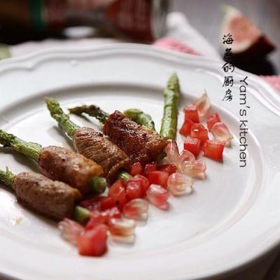 考验刀工的营养快手菜--【芦笋里脊卷】