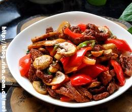 非同小可——————口蘑红椒炒肉片