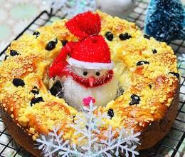 圣诞花环面包——应个景祝大家圣诞节快乐