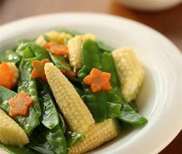 吃起来毫无负担素炒菜---荷兰豆炒玉米笋