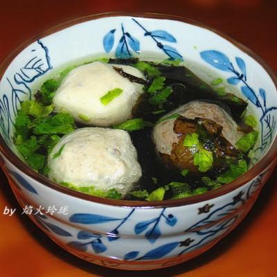 潮汕家常菜--肉丸紫菜汤