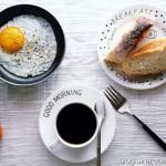 【早餐°】2016-12-30:軟歐/煎蛋/咖啡/桔子