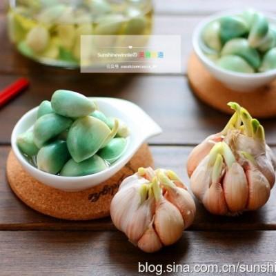 #美食新新年#天然色素美食--腊八蒜