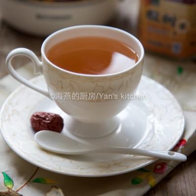 牛蒡红枣蜂蜜茶--自制抗霾排毒清肺润喉之养生热饮