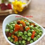 剁椒腊肉炒豌豆