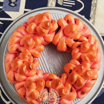 紅花朵花環包(中種)