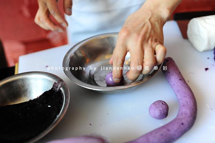 紫薯蓝莓果
