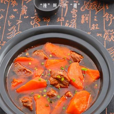 红萝卜炖牛腩