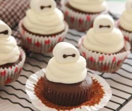 巧克力大白纸杯蛋糕