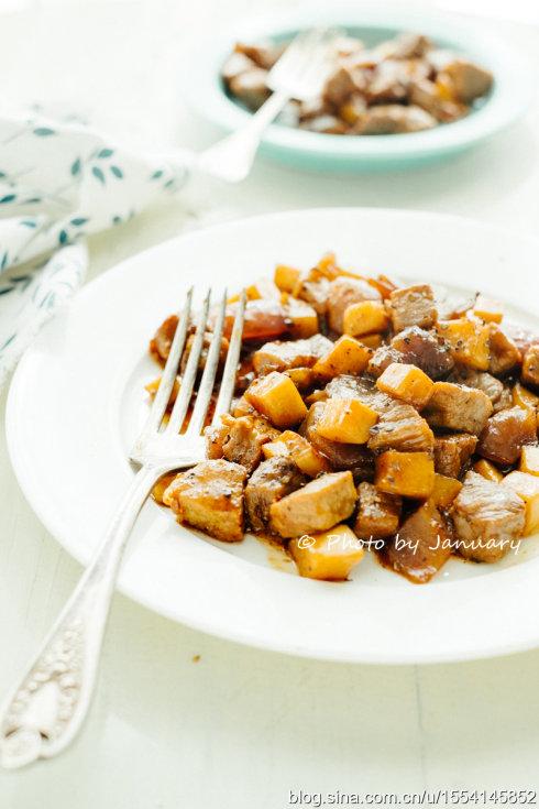 黑椒杏鲍菇牛肉粒