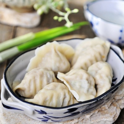 葱油海参肉丸水饺