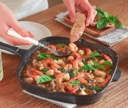 橄榄油浸香草蘑菇虾--西班牙菜
