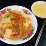 白菜豆腐炖脂渣