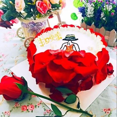 玫瑰慕斯--情人节专属甜品