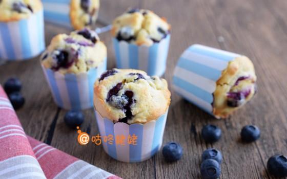鲜蓝莓马芬