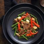 嫩牛肉炒豇豆