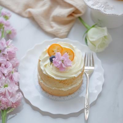 香蕉戚风奶油小蛋糕