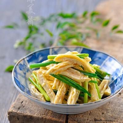 腐竹怎么泡--葱香腐竹
