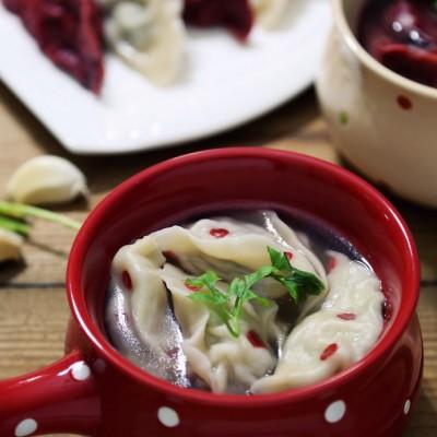 浮雕波点沙茶饺子