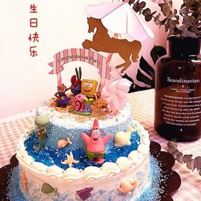 海绵宝宝主题蛋糕