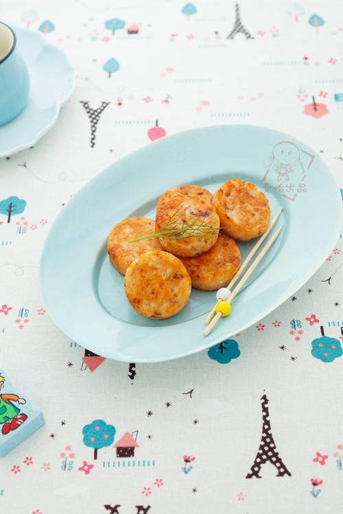 香煎三文鱼饼