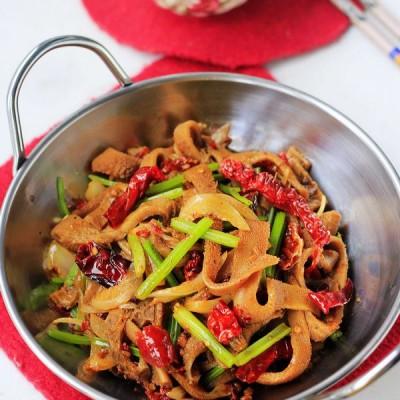 干锅羊肚--新疆菜