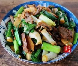 春笋大蒜炒肉片