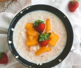 芒果椰汁米布丁