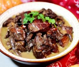 珍珠鸡炖蘑菇----东北家常菜