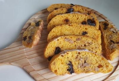 免揉欧式面包(2)-南瓜提子包