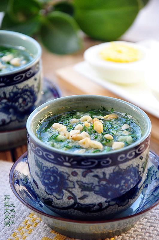 豆腐荠菜羹、荠菜大米粥
